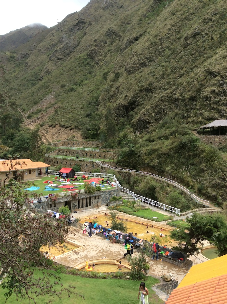 hot springs Lares Peru